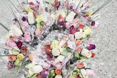 Bouquets artificial roses Royalty Free Stock Photography