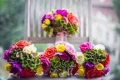 Bouquets of bridesmaids Stock Photos