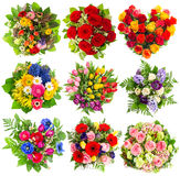 Bouquets of colorful flowers for Birthday, Wedding, Easter, Holi Royalty Free Stock Photo