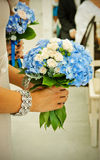 Bouquets with dark blue violets Stock Photography