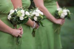 bouquets de demoiselles d'honneur Photographie stock libre de droits