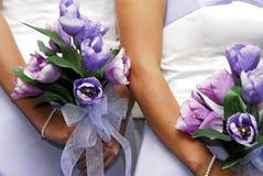 Bouquets de demoiselles d'honneur Image libre de droits