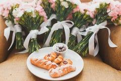 Bouquets de mariage Photographie stock libre de droits