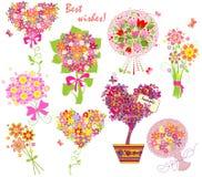 Bouquets de salutation illustration de vecteur