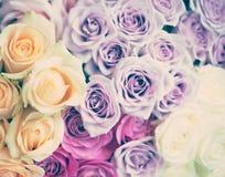 Bouquets de vintage des roses Photographie stock