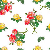 Bouquets des roses Configuration sans joint Illustration Stock