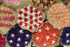 Bouquets of dried flowers for celebrations and Mothers Day Stock Photo