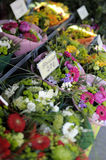 Bouquets at flower market Royalty Free Stock Photography