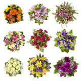 Bouquets of flowers stock photo