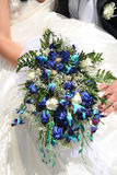 Bouquets of flowers. A brides wedding bouquet - series Stock Photo
