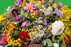Bouquets of flowers and herbs Royalty Free Stock Photo