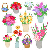 Bouquets of flowers Royalty Free Stock Images