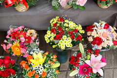 Bouquets of flowers for valentines day Royalty Free Stock Photography