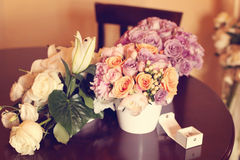 3 bouquets of roses Stock Images
