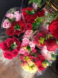 Bouquets of roses Stock Photos
