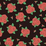 Bouquets of roses Seamless pattern. Royalty Free Stock Images