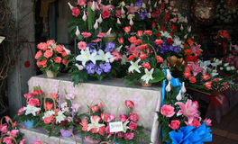 Bouquets for sale Royalty Free Stock Photography