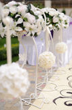 Bouquets on Stands Royalty Free Stock Images