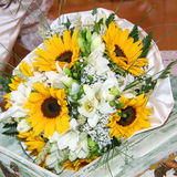 Bouquets of sunflowers Royalty Free Stock Photos