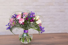 Bouquets of varios flowers Stock Photography