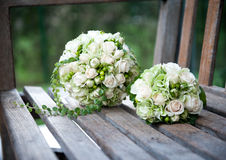 Bouquets with white roses Stock Image