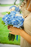 Bouquets With Dark Blue Violets Royalty Free Stock Images