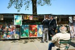 Bouquinistes, Parigi Fotografia Stock
