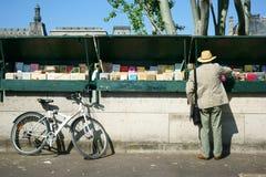 Bouquinistes Parijs Stock Afbeelding