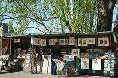 Bouquinistes Parijs Frankrijk Stock Afbeelding