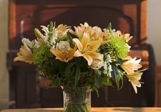 Bouquit in the living room. A romantic bunch of flowers Stock Photo