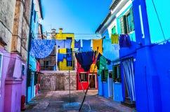 Bourano, Venetië, Italië stock foto