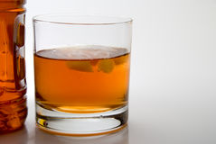 Bourbon. A big highball glass full of Kentucky Bourbon Royalty Free Stock Photo
