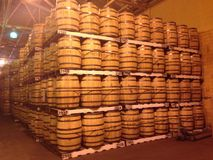 Bourbon Barrels.  Royalty Free Stock Image