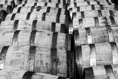Bourbon barrels Stock Photo