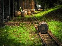 Bourbon beczkuje wzdłuż whisky śladu blisko Lexington Kentucky zdjęcie royalty free