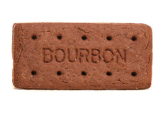 Bourbon biscuit. On white background Stock Photography