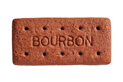 Bourbon Biscuit, cut out royalty free stock images