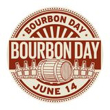 Bourbon Day, June 14. Rubber stamp, vector Illustration stock illustration