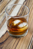 Bourbon with ice Stock Image