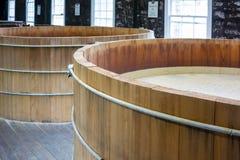 Bourbon Mash Tanks top view Royalty Free Stock Images