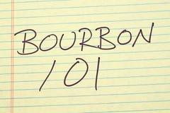 Bourbon 101 Na Żółtym Legalnym ochraniaczu Zdjęcie Stock
