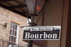 bourbon rue Zdjęcie Royalty Free