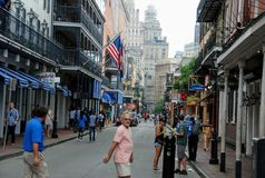 Bourbon St, New Orleans, Louisiana, USA stock photos