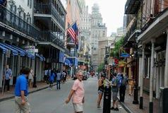 Bourbon St, New Orleans, Louisiane, de V.S. stock foto's