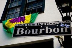 Bourbon-Straße Lizenzfreies Stockfoto