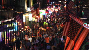 Bourbon-Straße Juli 4. stock video
