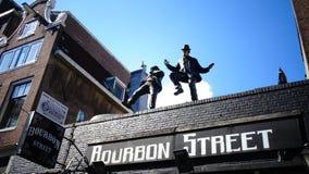 Bourbon-Straßenmaskottchen Stockfoto