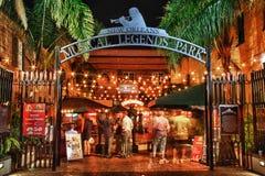 Bourbon-Straße New Orleans - musikalischer Anzeige-Park Lizenzfreie Stockfotos