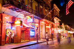 Bourbon street Stock Photos