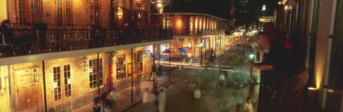 Bourbon Street. French Quarter, New Orleans, Louisiana Stock Photography